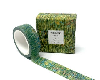 Van Gogh Patch of Grass Washi Tape // Stunning Post-Impressionism Washi Tape Bullet Journal, Planners, and Collages // 15mm/7m