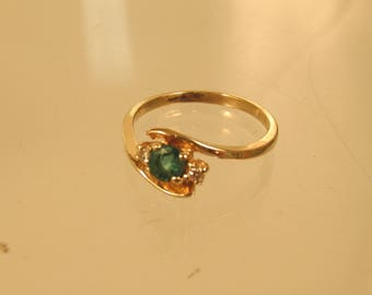 14 K Emerald and Diamond Ring  Size 6.5  @ A Village Coin Bullion 11/19/5 B