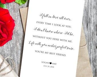 Fall wedding card etsy tim mcgraw anniversary wedding card my best friend lyrics i fall in love all stopboris Images