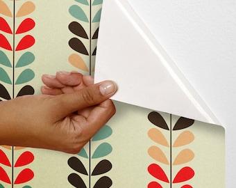 Decal Wallpaper, Colourful Wallpaper, Wall Flower Decal, Wall Flower Decals, Flower Decal Stickers, Flower Stickers For Wall, Wallpaper C008