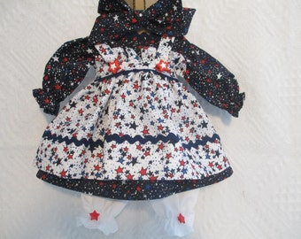 Handmade 18-20 inch Americana Raggedy Ann Dress made by Jodi Lynn
