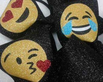 Emoji Cheer Bows