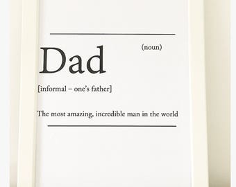 Dad Fathers Day A4 Print