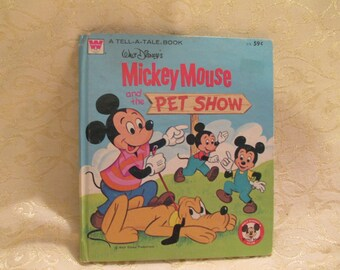 """Vintage 1976 """"Mickey Mouse and the Pet Show"""" Book"""