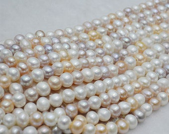 11-12mm candy color freshwater pearls necklace for summer color