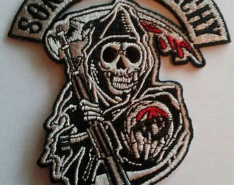 FREE SHIPPING**** Sons Of Anarchy Grim Reaper Biker Patch ~ NEW