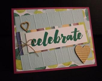Celebrate Handmade greeting card