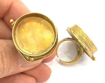 Raw Brass Adjustable Ring Blank  (24mm Blank)   G3410