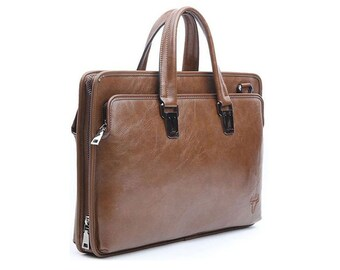 Mens Briefcase Laptop Business Bag Shoulder Bag Tote Bag Attache 6016-3