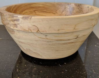 Handcrafted Beautiful Spalted Maple  Bowl