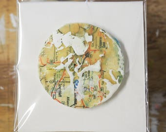 Encaustic Circle Painting (extra Small)