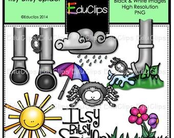 Itsy Bitsy Spider Nursery Rhyme Clip Art Bundle