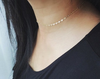 Lace Choker, Chain Choker, Delicate Choker, Choker Necklace, Choker, Perfect Layering Necklace, Holiday Gift, In Gold, Rose Gold and Silver
