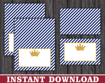 Prince Tent Cards | Prince Buffet Cards, Food Labels, Place Cards | Printable Digital File | INSTANT DOWNLOAD