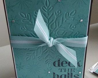 Deck the Halls Handmade Christmas Card Northern Flurry