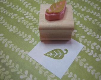 Leaf Stamp - Mini Leaf Rubber Stamp  - Wedding Stamper - Nature Wedding - Gift Nature Lover - Tree  - Leaves