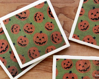 Halloween Coasters - Halloween Decor - Coasters - Drink Coasters - Tile Coasters - Ceramic Coasters - Coaster Set - Halloween Gift
