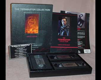 The Terminator Collection Limited Edition Hologram Boxed Set 1992 VHS