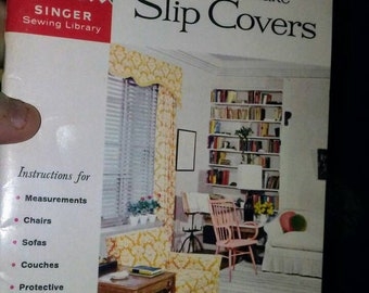 2 Vintage Singer Sewing Library Books- Slip Covers & Sleeves