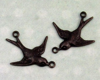 Small Bird Connector, Trinity Brass Matte Black, 1 Pair MB23