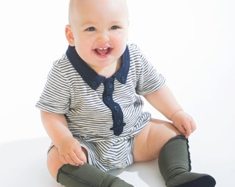 Wizard Boots - Merino wool knee-high baby socks with non-slip suede sole