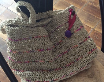 Hemp twine tote bag