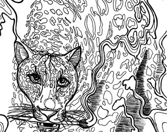 Adult Coloring page Jaguar coloring printable download and Hot rod