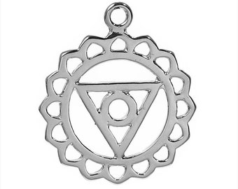 geometric, round shape and triangle, round flower, silver round pendant