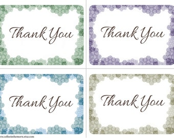 Thank you Cards - Flowers Soft Lace - Nature - digital download printable - Instant Download