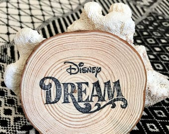 Disney Dream Cruise Magnet, Fish Extender Gift, Disney Dream, Fish Extender, Natural Wood, Handmade Vacation Souvenir