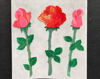 Sandylion Stickers, Scrapbooking, Vintage  Rare Pearly Flower, Flowers, Rose, Roses, Pearl   (1 mod)
