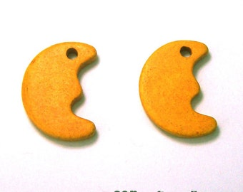 Moon greek ceramic beads / charms - 2 pieces