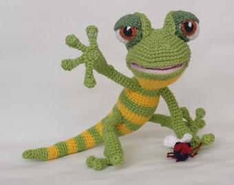Amigurumi Crochet Pattern - Giorgio the Gecko - English Version