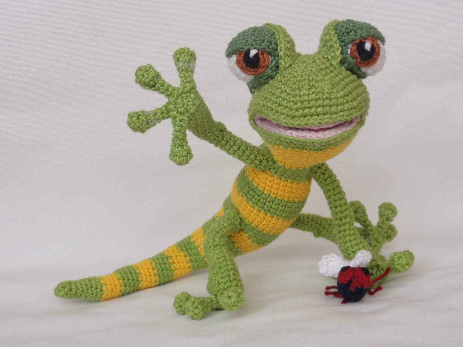 Amigurumi Crochet Pattern Giorgio the Gecko English
