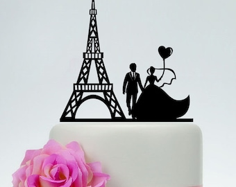 paris wedding cake topper cake topper etsy 18118