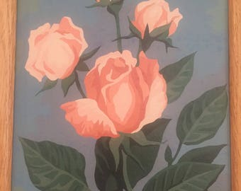Vintage Rose Paint by Number