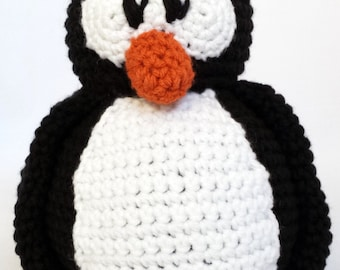 Penguin Stuffed Animal - Machine Washable - Plush Toy - Penguin - Baby Gift - Penguins Fan - Baby Shower - Hockey - Crochet - Plush
