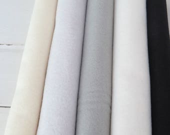 "Choose your own colors  5 Wool blend Felt Sheets,9 x 12 inch sheets, 12 x 8"" sheets"