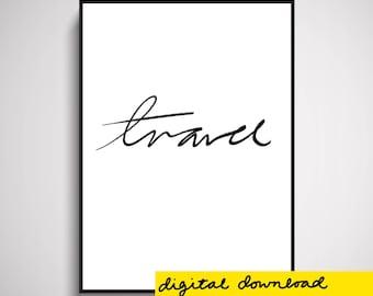 Travel Wall Art Print Digital Download