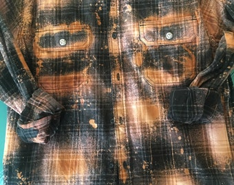 Bleached Out Flannel Shirt