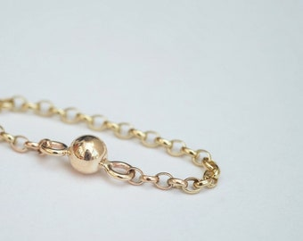 9ct gold chain ring