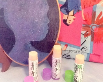 Lavender+Lime scented organic lip balms by Star Siren Co.