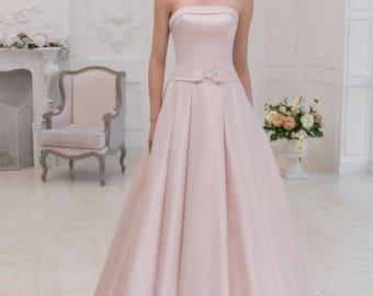 Wedding dress wedding dresses wedding dress LOLA princess dress plain champagne rose ivory