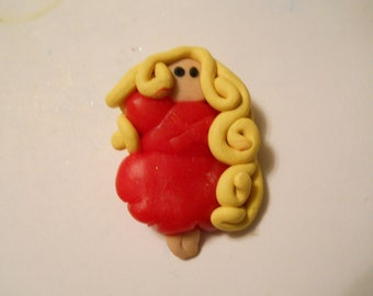 Rapunzel Clay Pendant