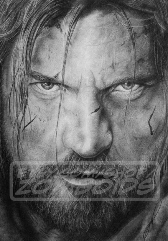 A3 Jaime Lannister Portrait (Nikolaj Coster-Waldau) Original Graphite Work (not a print)