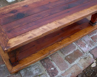Wooden Coffee Table Rustic Wood Distressed Furniture Living Room Table Decor Beach Furniture Cottage Chic French Country Decor USA 45x20x16