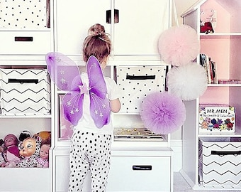 Nursery Pom Poms, Hanging Pom Poms, Nursery Decor, Nursery Wall Hangings, Little Girls Bedroom Decor, Pink Nursery Decor, Baby Shower
