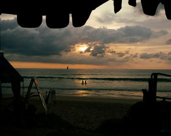 Thailand Beach Sunset Silhouette Photo Print