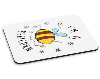 I'm A Beeicorn PC Computer Mouse Mat Pad
