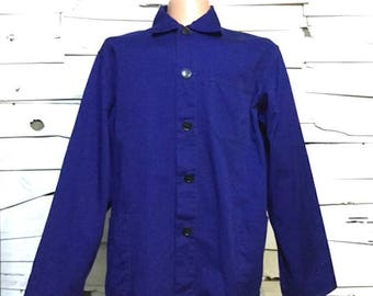 Vintage Work Jacket Work Blue Chore Coat (os-ewj-19)